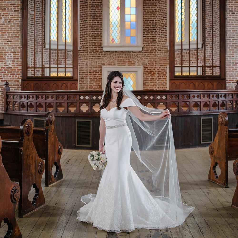 Felicity Church Uptown Bridal Portraits | Paige Bernard